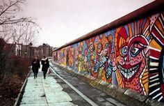 Berliner Mauer in Kreuzberg, 1980er