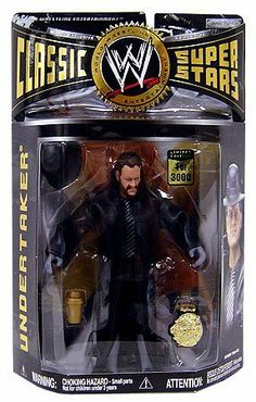 WWE Wrestling Classic Superstars Exclusive Limited Edition Action Figure Undertaker (Early Career with Real Beard) by Jakks Pacific. Figuras Wwe, Wwe Hulk Hogan, Undertaker Wwe, Wwe Action Figures, Wwe Elite, Wrestling Superstars, Small Garden Design, Cute Cartoon Wallpapers, Wwe Tna