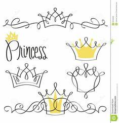 Drawing Princess Tattoo, Princess Drawings, Princess Crown Tattoos, Coroa Tattoo, Creation Bougie, Crown Drawing, Doodles, Desenho Tattoo, I Tattoo