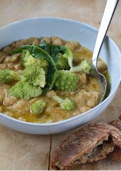 Zuppa di ceci e broccolo romano