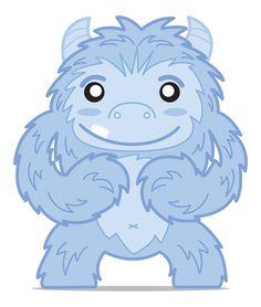 monster love <3 Happy Monster, Kitsch, Mysterious, Smurfs, Illustration, Monsters, Beast, Art Drawings, Creatures