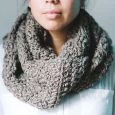 crocheted cowl double wrapped. by sincenineteen88 on Etsy