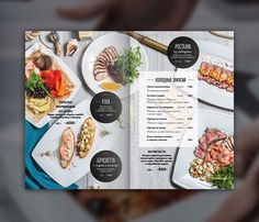 Photo & design for restaurant menu cafe Delmar. Still life for menu, photo shooting and layout design. Cafe Menu Design, Food Menu Design, Restaurant Menu Design, Restaurant Identity, Carta Restaurant, Meat Restaurant, Menue Design, Menu Layout, Menu Book