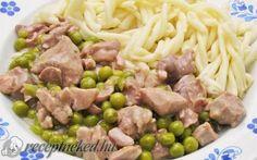 Zöldborsós aprópecsenye recept Hungarian Recipes, Hungarian Food, Wok, Recipies, Yummy Food, Beef, Chicken, Vegetables, Cooking