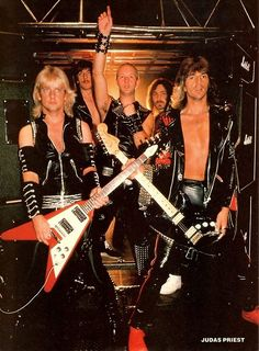 Judas Priest: Wanna know why metal bands started wearing lots of studded leather, chains, etc? Look right here.