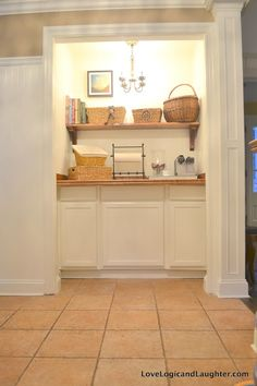 An Old Closet Transformed Into A Fancier Storage Area And Coffee Bar