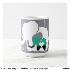 Mother and Baby Elephants with Duct Tape Texture Coffee Mug Mother And Baby Elephant, Elephant Mugs, Baby Elephants, Duct Tape, Photo Mugs, Create Your Own, Coffee Mugs, Art Pieces, Kids Shop