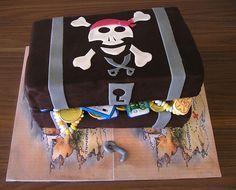 Piraten Kuchen: leckere Rezepte von Geburtstagskuchen und Torte in Form der Schatztruhe und Schiff
