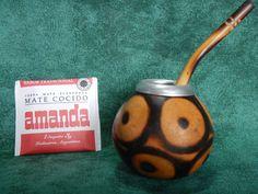 1 Gourd 1 Bombilla Straw Yerba Mate Tea Infusion Argentino Gaucho Uruguay Brazil Paraguay Chile Tango by robertolascano on Etsy