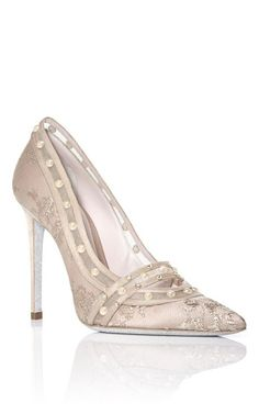 Aren't these a pair of the prettiest shoes you've ever seen? Audrey Pump by Rene Caovilla for Preorder on Moda Operandi
