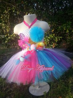 KATY PERRY Candy land inspired Tutu Kids 5t 6t 7 by DCGC on Etsy