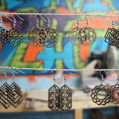 Griffen Hollow Earrings #jewelry #wood