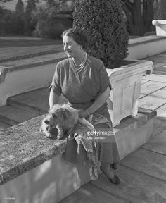 Queen Elizabeth The Queen Mother (1900 - 2002) on the patio of the Royal Lodge in Windsor, England on April 07, 1954. (Photo by Lisa Sheridan/Studio Lisa/Getty Images)