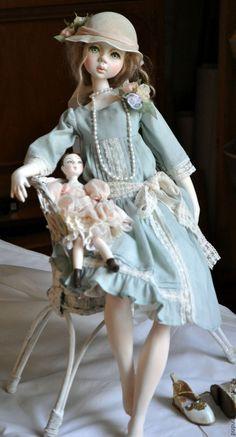 Купить Коллекционная кукла Лили - бирюзовый, авторская кукла, кукла ручной работы, кукла интерьерная