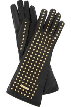 Burberry Prorsum|Studded leather gloves