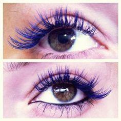 Blue lash extensions