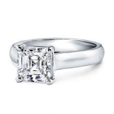 Basket Solitaire Engagement Ring with an Asscher Diamond