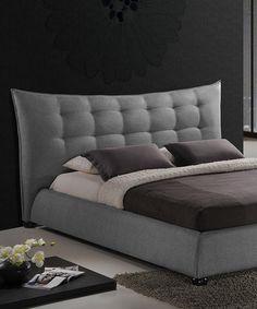 This Gray Marguerite Queen Platform Bed is perfect! #zulilyfinds
