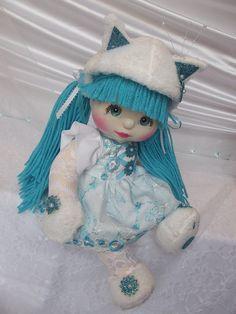 OOAK Mattel My Child Doll ~ Aqua Kitty ~ Commission Doll by jesska80, via Flickr