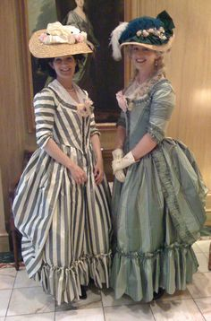 Madame Modiste Historic Costuming: 18th century! The Duchess striped day dress