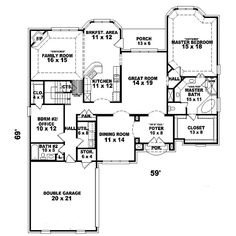 European House Plan First Floor - 087D-1633 | House Plans and More