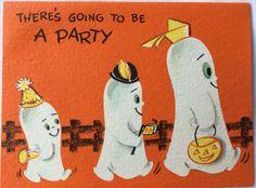 1950s Halloween, Vintage Halloween Cards, Halloween Eve, Halloween Painting, Halloween Season, Halloween Ghosts, Halloween House, Holidays Halloween, Happy Halloween