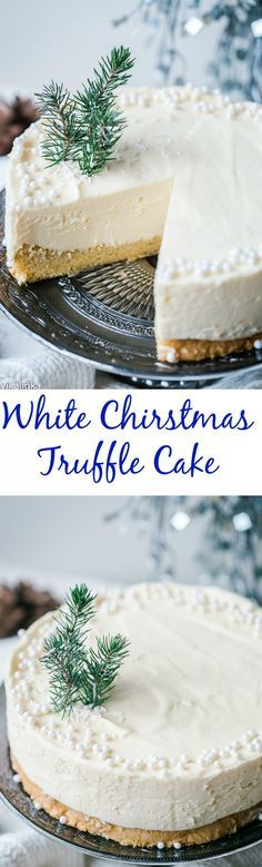 White Chocolate Truffle Cake that will become the talk of the table at any dinner party! White Chocolate Truffle Cake that will become the talk of the table at any dinner party! Christmas Truffles, Christmas Sweets, Christmas Cooking, Holiday Baking, Christmas Desserts, White Christmas, Christmas Cakes, Christmas Cheesecake, Christmas Chocolate