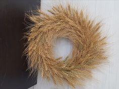 Wheat Wreath  #goldenforrest #goldenforrestcreations #handmade #wreathideas #frontdoordecor #wheat #countrydecor #country #rustic #wreath Homemade Wreaths, Front Door Decor, Country Decor, Herbs, Bows, Rustic, Flowers, Handmade, Arches