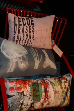 Amazing x-ray print cushions from Alexandre  from MPDClick's coverage of Maison et Objet 2013