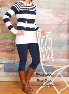 Some leggings with that tunic is a perfect match. Your Favorite Fleece Lined Leggings - Reg and Ext Sizes! | Jane
