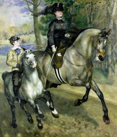 Horsewoman in the Bois de Boulogne - Pierre Auguste Renoir