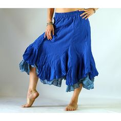 2 Layer Skirt Blue Zootzu Renaissance Festival Costume Skirt Belly... ($40) ❤ liked on Polyvore featuring costumes, black, skirts, women's clothing, blue costume, womens halloween costumes, gypsy costume, womens pirate costume and renaissance festival costumes