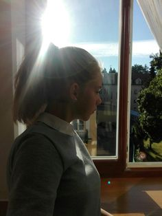 I love when I am looking    at window at sunny morning 🌞☀