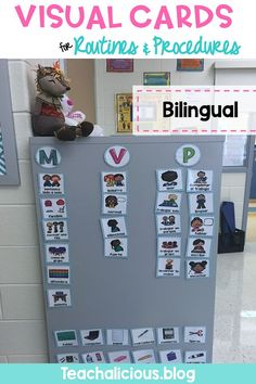 These bilingual visual direction cards are perfect to support students in following directions in the classroom. The pictures are easy to read by children as young as kindergarteners. These visual aids will enhance your classroom management and help you reduce interruptions. #teacherspayteachers #visualaids #followdirections #classroommanagement