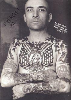 Sailor tattooed by Percy Water, tattoo artist
