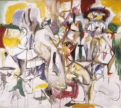 """ARSHILE GORKY, """"How My Mother's Embroidered Apron Unfolds In...,"""" 1944, oil on canvas, 40 × 45 inches (101.6 × 114.3 cm) © 2016 The Arshile Gorky Foundation / Artists Rights Society (ARS), New York"""