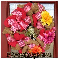 Summer pink wreath