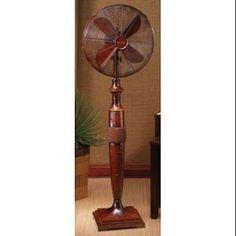 "54"" Stylish Tocoa Deep Brown Textured Oscillating Standing Floor Fan"