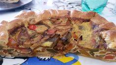 Segui la ricetta della Torta salata ai peperoni. How simple it is to prepare a cake with peppers. (italian food)