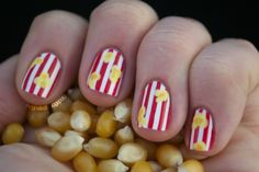 Popcorn polish! Tutorial here: http://blognailedit.tumblr.com/post/15975998282/popcorn-nails-with-tutorial-for-all-of-my