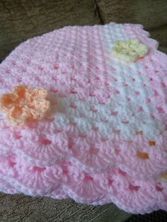 Inspiration~Ravelry: debbieredman's Granny in pink with flowers