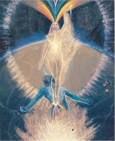 The Anima's Role in a Man's Spiritual Journey - Jean Raffa Psychedelic Art, Aesthetic Art, Aesthetic Pictures, Anima And Animus, Art Visionnaire, Aura Colors, Arte Obscura, Visionary Art, Female Images