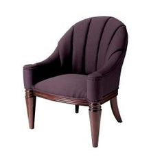 Purple Fabric, Take A Seat, Carved Wood, Club Chairs, Armchairs, My Dream Home, Bedroom Ideas, Accent Chairs, Upholstery