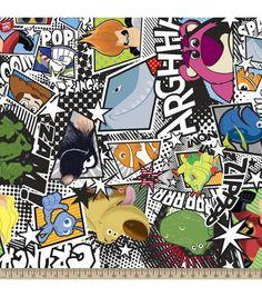 Disney Pixar Monsters, Inc. Fleece Fabric