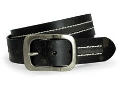 Snap on Antique Silver Hardware Vintage Leather Jean Belt $14.13