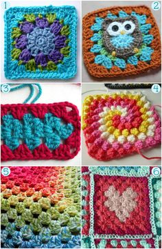Crochet Granny Squares - Project Ideas and Free Patterns