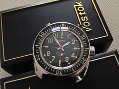 Very nice, very art deco but imported. Perhaps RGM can custom make something similar and add day & date. Rolex Watches, Watches For Men, Vostok Watch, Best Mods, Timing Is Everything, Watch 2, Ding Dong, Vintage Rolex, Time Capsule