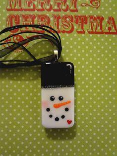 Frosty the Snowman Handpainted Domino Pendant by pendantparadise, $9.95