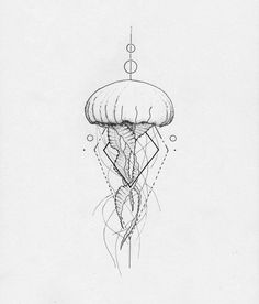 Jellyfish geometric . . . . . #jellyfish #art #illustration #geometric…