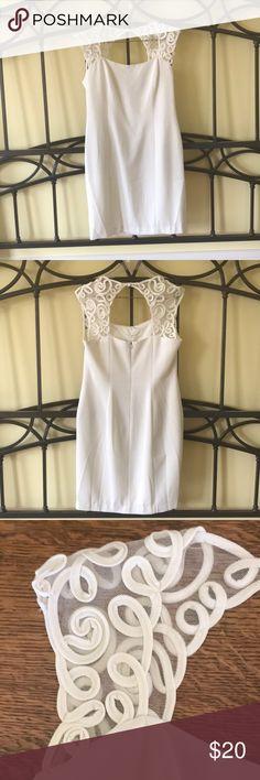 "👗HOST PICK!🔥 Laundry Soutache Off White Dress Laundry by Shelli Segal Soutache Off White Dress. Size 12. Gorgeous Soutache shoulder and neckline detail. 18.5"" armpit to armpit. 16"" waist. 20"" hip. 36"" shoulder to hem. Elegant! EUC. Smoke free home. Host pick for Best Dresses and Skirts Party!  Laundry By Shelli Segal Dresses Midi #bestskirtsforsize16"